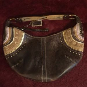 Coach Studded Leather Hobo Purse
